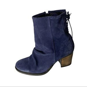 Bos & Co Barlow Blue Suede Heeled Boots 41 (US 10)
